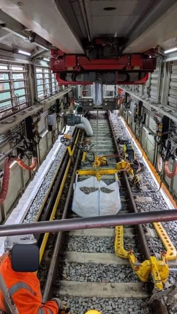 Inside Robel Mobile Maintenance Train