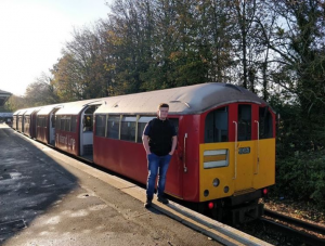 Dan James next to 483006 At Shanklin.