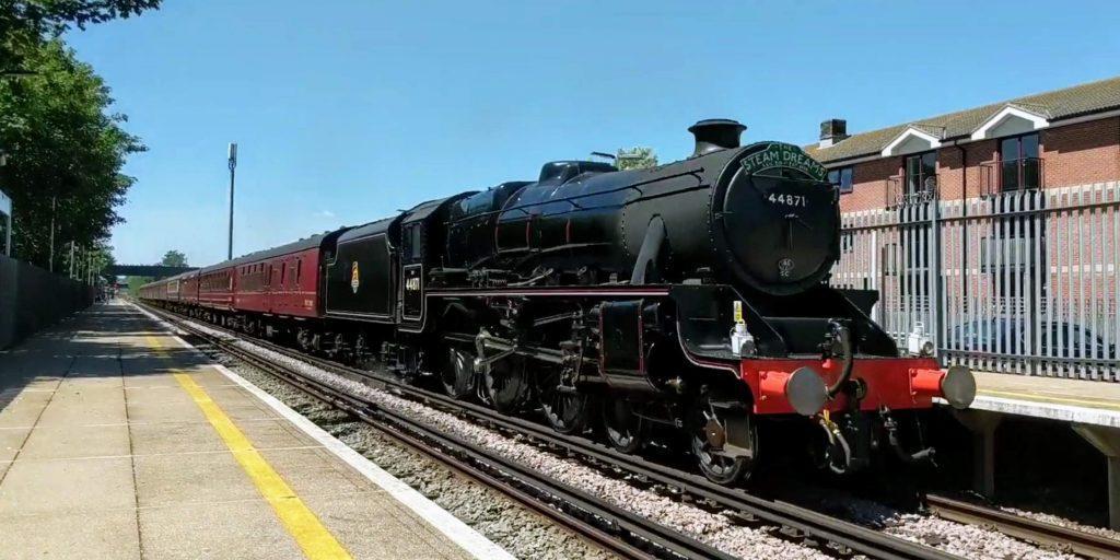 Steam locomotive black 5