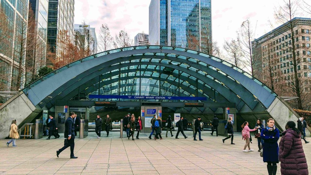 Canary Wharf Tube Station Entrance