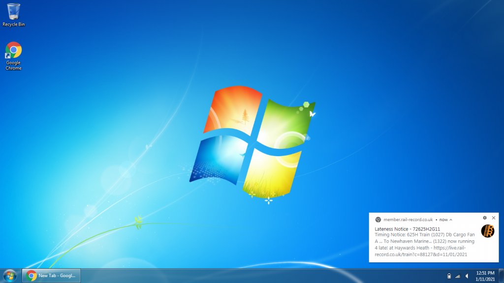 Windows 7 Push Notifications